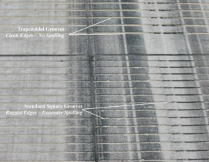 Trapezoidal Grooves No Spalling